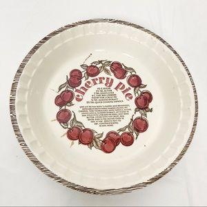 Vintage pie plate retro kitchen cherry baking dish